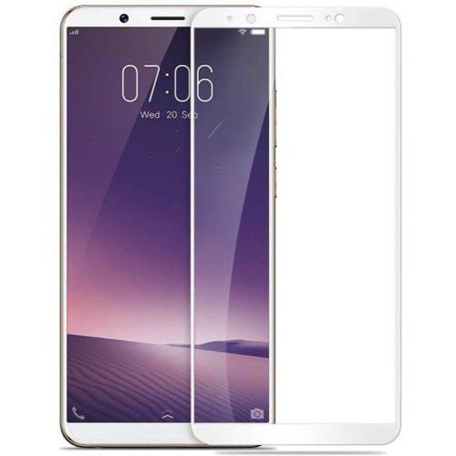 Vivo V7 Tempered Glass White High Quality 1