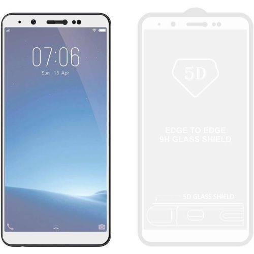 Vivo Y71 Tempered Glass White High Quality 5D 1