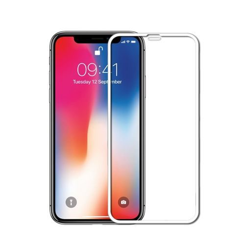 Apple iPhone X Tempered Glass White High Quality 1