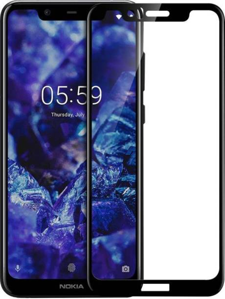 Nokia 5.1 Plus Tempered Glass Black High Quality 6D 3