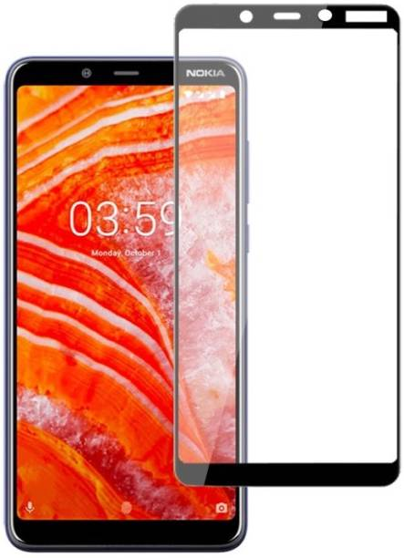 Nokia 3.1 Plus Tempered Glass Black High Quality 5D 3