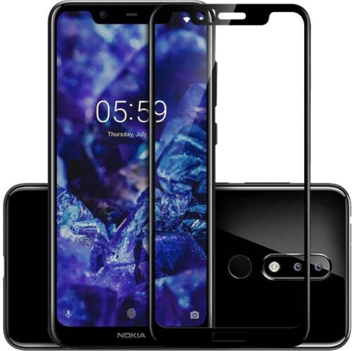 Nokia 5.1 Plus Tempered Glass Black High Quality 6D 2