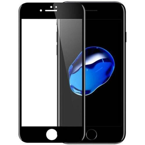 Apple iPhone 7 Tempered Glass Black High Quality 6D 1