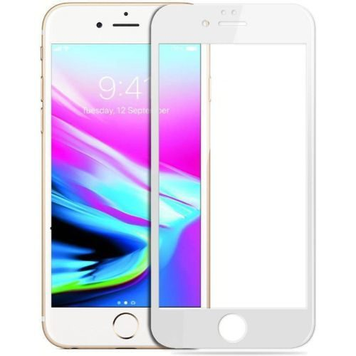 Apple iPhone 6 Tempered Glass White High Quality 6D 1