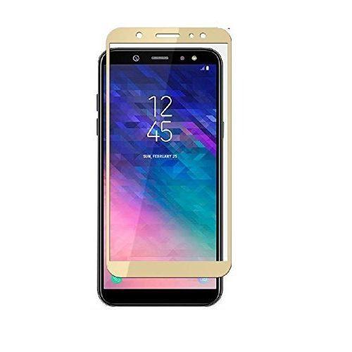 Samsung Galaxy A6 Tempered Glass Gold High Quality 5D 1