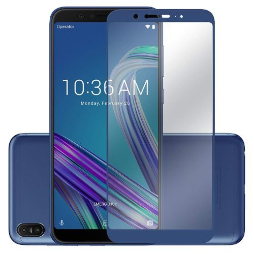 Asus Zenfone Max Pro M1 Tempered Glass Full Glue 6D Blue Color 1