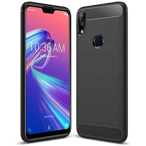 Asus Zenfone Max Pro M2 Back Cover Case Black Color Hybrid 1