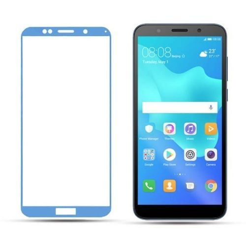 Honor 7S Tempered Glass Full Glue 6D Blue Colour 1