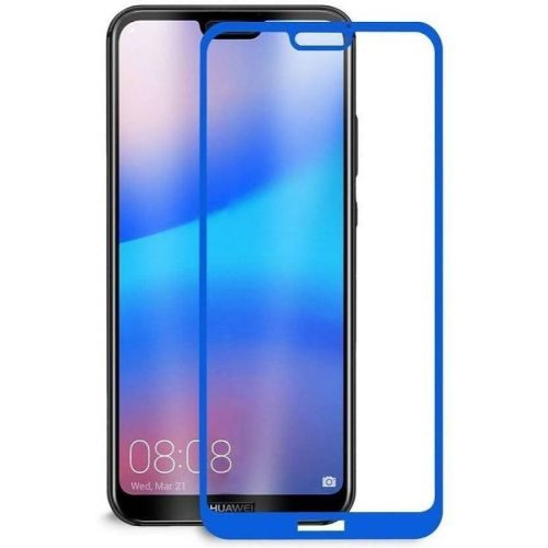 Honor 8C Tempered Glass Full Glue 6D Blue Color 1