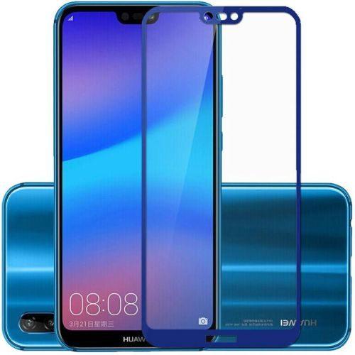 Honor 8C Tempered Glass Full Glue 6D Blue Colour 1