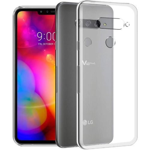 LG V40 ThinQ Transparent Soft Back Cover Case 1