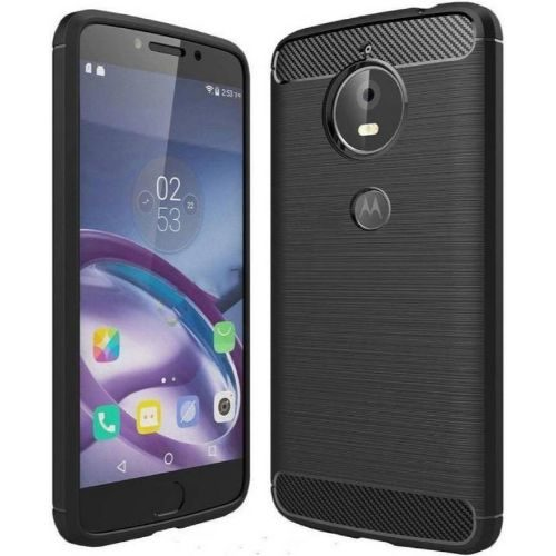 Motorola Moto E4 Plus Hybrid Soft Black Cover 1