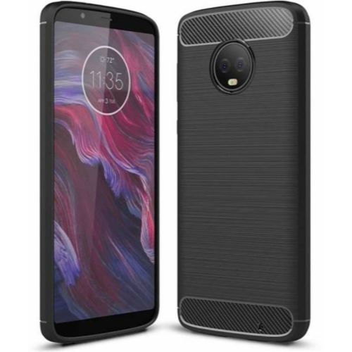 Motorola Moto G6 Play Hybrid Soft Black Cover Case 1