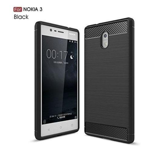 Nokia 3 Hybrid Soft Black Cover 1