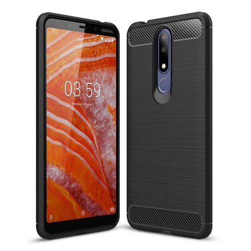 Nokia 3.1 Plus Back Cover Case Black Color Hybrid 1