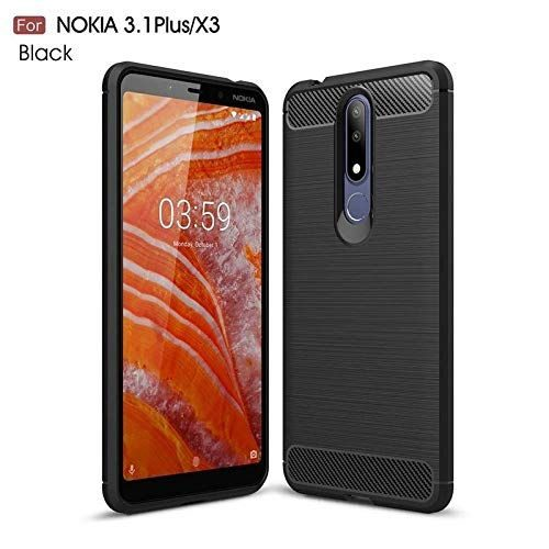 Nokia 3.1 Plus Back Cover Case Black Colour Hybrid 1