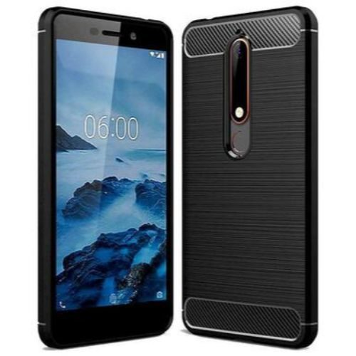 Nokia 6 2018 Hybrid Soft Black Case 1