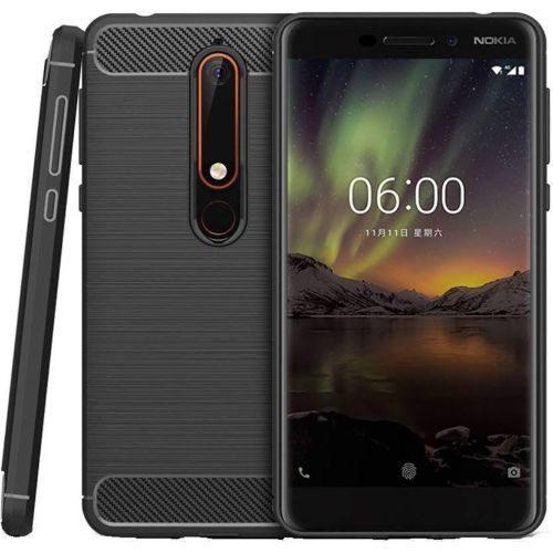 Nokia 6.1 Hybrid Soft Black Cover 1