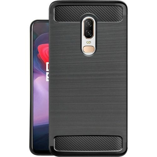 OnePlus 6 Hybrid Soft Black Cover 1