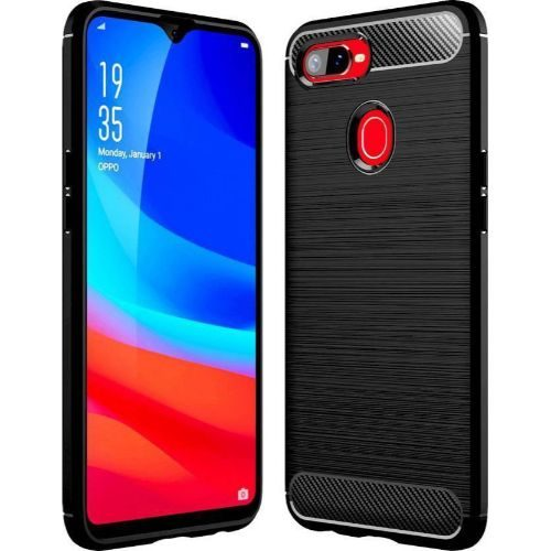 Oppo F9 Pro Back Cover Case Black Colour Hybrid 1