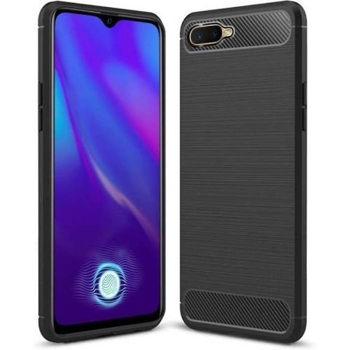 Oppo K1 Back Cover Case Black Colour Hybrid 1