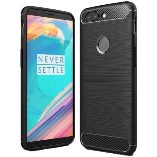 OnePlus 5T Hybrid Soft Black Cover 1