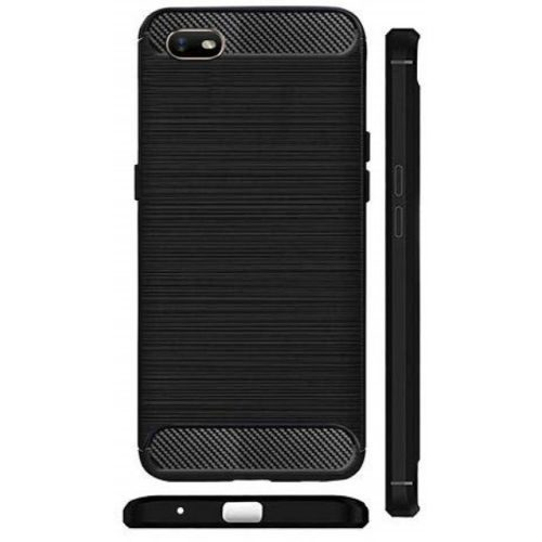 Oppo A1k Back Cover Case Black Color Hybrid 1