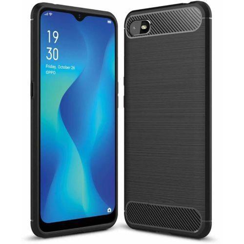 Oppo A1k Back Cover Case Black Colour Hybrid 1