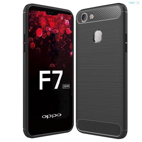Oppo F7 Hybrid Soft Black Cover 1