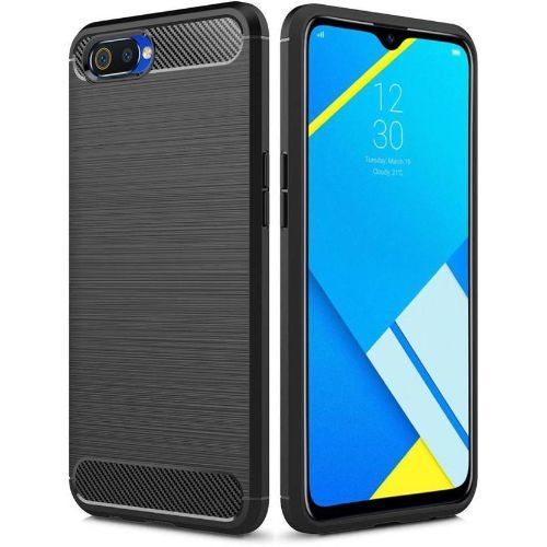 Realme C2 Back Cover Black Colour Hybrid 1