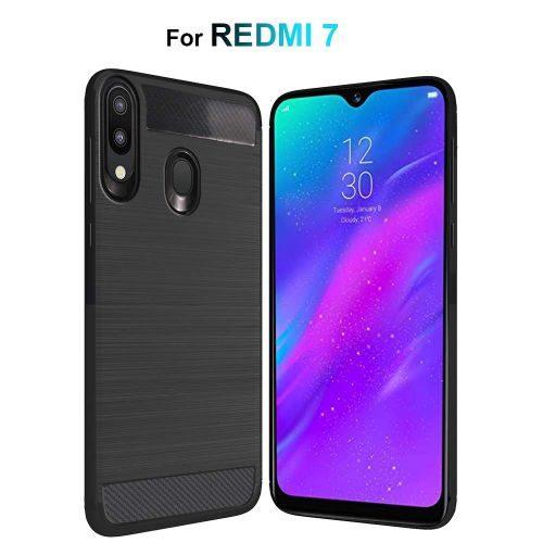 Xiaomi Redmi 7 Back Cover Case Black Colour Hybrid 1