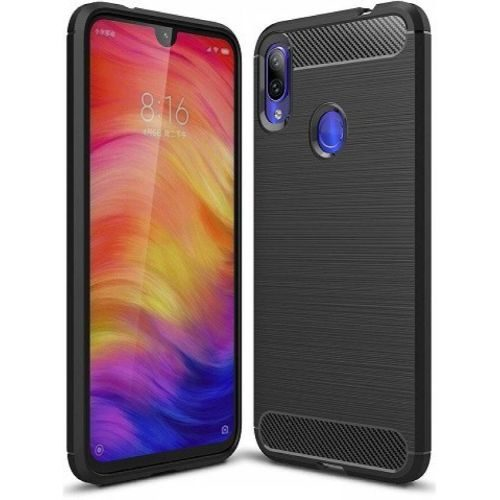 Redmi Note 7 Back Cover Case Black Color Hybrid 1