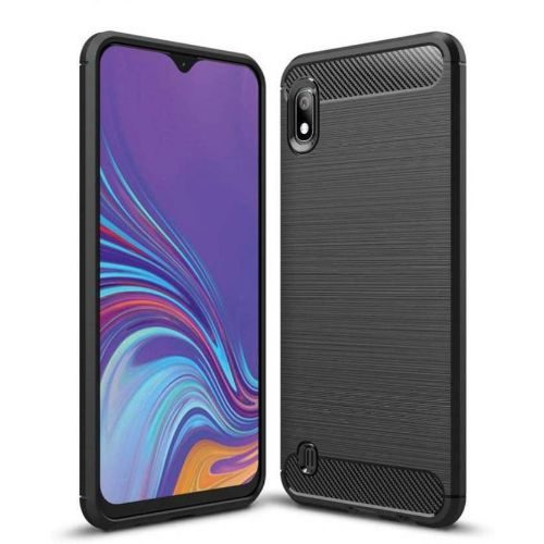Samsung Galaxy A10 Back Cover Case Black Color Hybrid 1