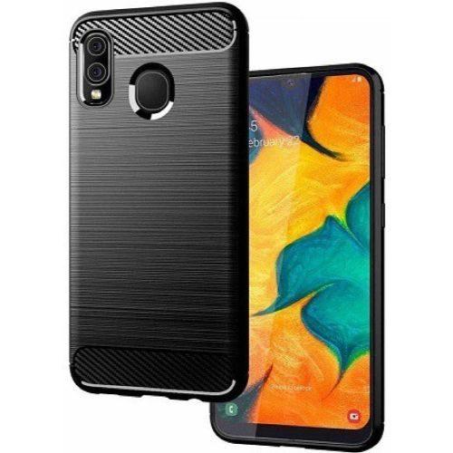 Samsung Galaxy A30 Back Cover Black Colour Hybrid 1
