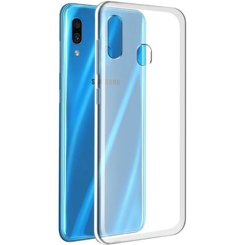 Samsung Galaxy A30 Transparent Soft Back Cover Case 1
