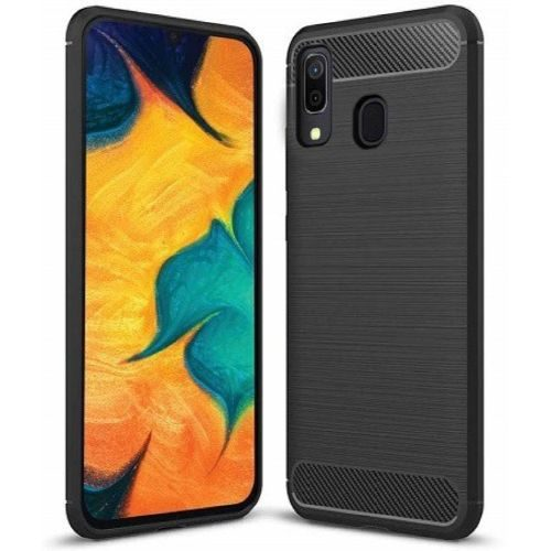 Samsung Galaxy A30 Back Cover Black Color Hybrid 1