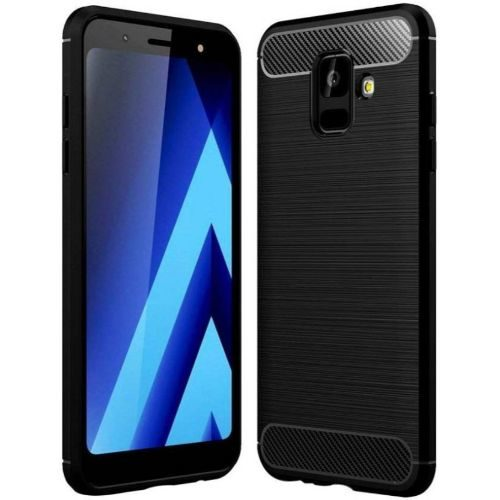 Samsung Galaxy A6 Hybrid Soft Black Cover 1