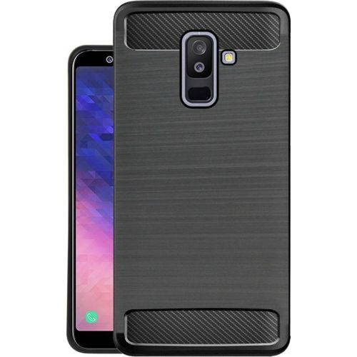 Samsung Galaxy A6 Plus Hybrid Soft Black Cover 1