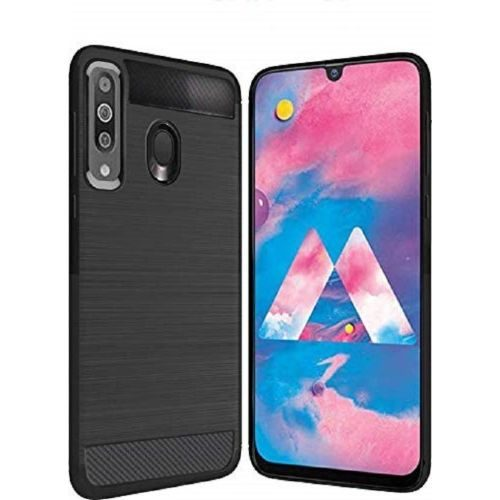 Samsung Galaxy M30 Back Cover Case Black Color Hybrid 1