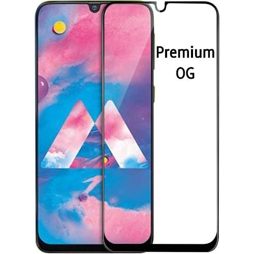 Samsung Galaxy M30 Tempered Glass Full Glue 6D Black Color 1
