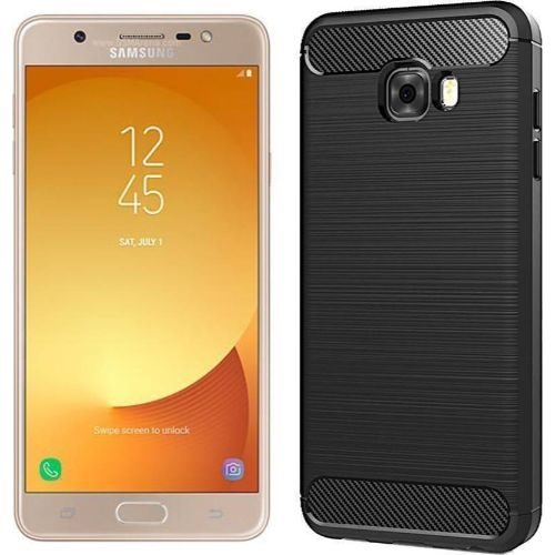 Samsung Galaxy J7 Max Hybrid Soft Black Cover Case 1