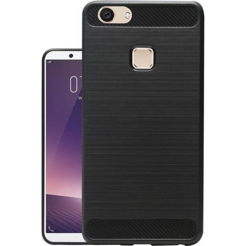 Vivo V7 Plus Hybrid Soft Black Cover Case 1