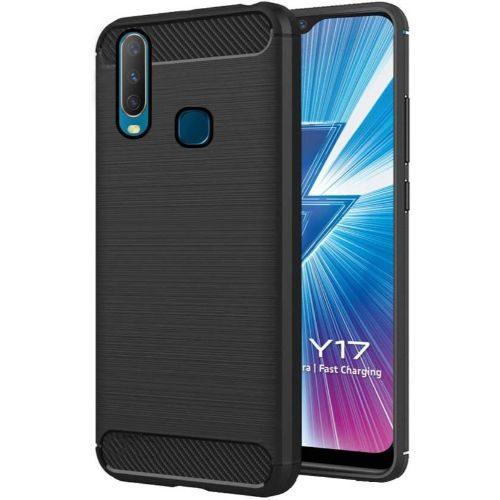 Vivo Y17 Back Cover Case Black Color Hybrid 1