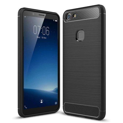 Vivo Y81 Back Cover Case Black Color Hybrid 1