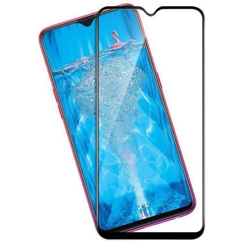 Oppo F9 Tempered Glass Full Glue 6D Black Colour 1