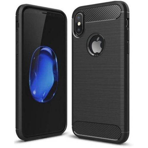 Apple iPhone X Hybrid Soft Black Cover OG 1