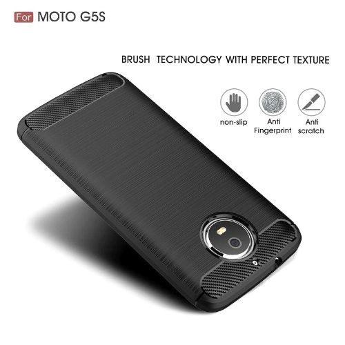 Motorola Moto G5 Hybrid Soft Black Cover 1