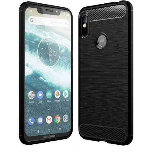 Motorola Moto One Power Hybrid Soft Black Cover 1