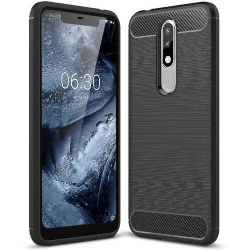Nokia 5.1 Plus Hybrid Soft Black Cover 1