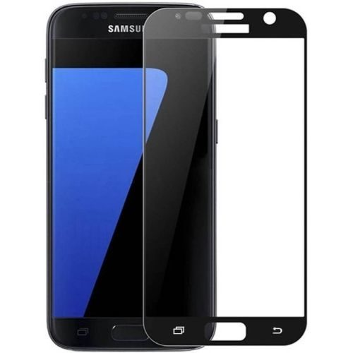 Samsung Galaxy S7 Tempered Glass Full Glue 6D Black Colour 1